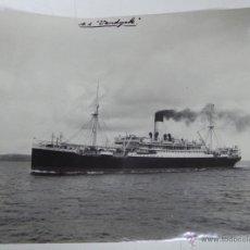 Postales: ANTIGUA FOTOGRAFIA DE BARCO VANDYCK, DE LA ROYAL MAIL, AÑO 1912, MIDE 20 X 15 CMS.. Lote 38283945