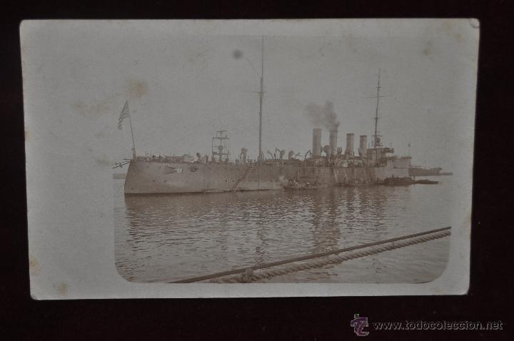 ANTIGUA POSTAL DEL CRUCERO LIGERO USS CHESTER (CL-1) DE LA ARMADA ESTADOUNIDENSE (Postales - Postales Temáticas - Barcos)