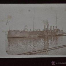 Postales: ANTIGUA POSTAL DEL CRUCERO LIGERO USS CHESTER (CL-1) DE LA ARMADA ESTADOUNIDENSE. Lote 40969175