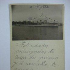 Postales: POSTAL FOTOGRAFICA - BARCO - ALCEDO - ESCRITA EN VALENCIA AÑO 1929. Lote 41401509