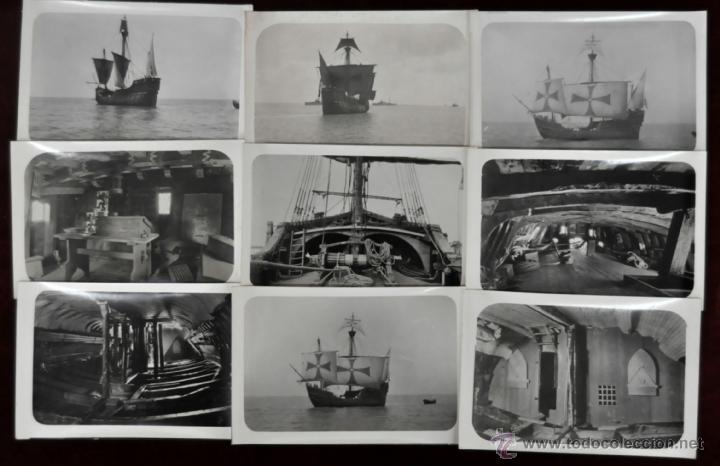 LOTE DE 9 POSTALES DE LA CARABELA SANTA MARÍA (Postales - Postales Temáticas - Barcos)