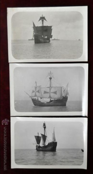 Postales: LOTE DE 9 POSTALES DE LA CARABELA SANTA MARÍA - Foto 2 - 41615411