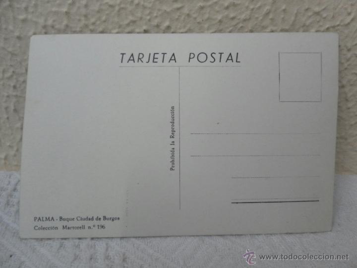 Postales: Tarjeta postal. Buque Ciudad de Burgos. - Foto 2 - 41748212