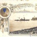 Postales: PS3652 POSTAL FOTOGRÁFICA DEL ACORAZADO 'ALFONSO XIII' ENTRANDO EN LA HABANA EL 9 DE JULIO DE 1920. Lote 41889053