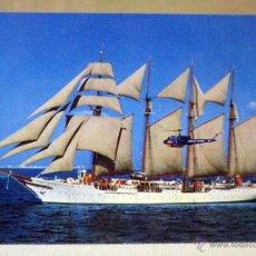 Postales: POSTAL COLOR, ARMADA ESPAÑOLA, JUAN SEBASTIAN ELCANO Y HELICOPTERO. Lote 42416582