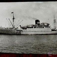 Postales: FOTO POSTAL DEL BARCO L´AZROU, COURRIER D´AFRIQUE EN HAUTE MER, 1950, ESCRITA. Lote 42788498