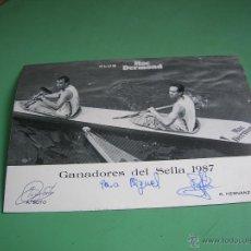 Postales: POSTAL GANADORES DEL SELLA 1987. Lote 43107470