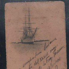 Postales: TARJETA POSTAL DE UNA FRAGATA. 1933.. Lote 43289853