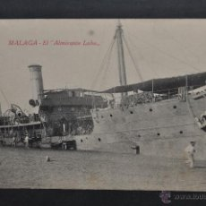 Postales: ANTIGUA POSTAL DE MALAGA. EL ALMIRANTE LOBO. SIN CIRCULAR. Lote 43303428