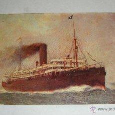 Postales: BARCO DE VAPOR REINA VICTORIA EUGENIA (1913). COMPAÑÍA TRANSATLÁNTICA. POSTAL NO CIRCULADA. Lote 44288131