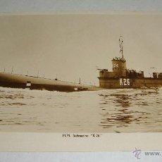 Postales: FOTO POSTAL. ARMADA INGLESA. H.M SUBMARINE K 26. NO CIRCULADA.. Lote 44290088