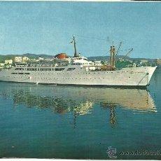 Postales: POSTAL BARCO - BUQUE CIUDAD DE BURGOS - PALMA DE MALLORCA - NEVCOLOR - SIN CIRCULAR - 1960. Lote 44417398