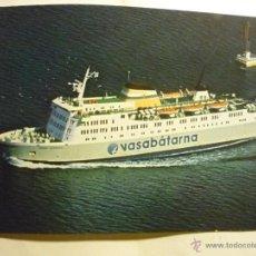 Postales: POSTAL EXTRANJERA.-BARCO VASABATARNA-FINLANDIA ESCRITA. Lote 44771411