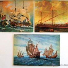 Postales: POSTAL BARCOS. MUSEO NAVAL DE MADRID. Nº 4, 5 Y 6. TRES POSTALES.. Lote 45138668