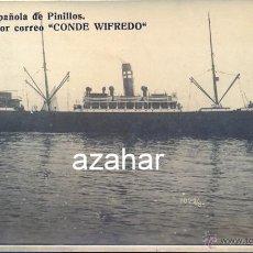 Postales: POSTAL, VAPOR CORREO, CONDE WIFREDO, COMPAÑIA ESPAÑOLA DE PINILLOS. Lote 45239832