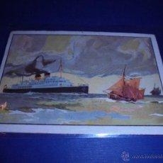 Postales: ANTIGUA POSTAL 1937 TRASATLANTICO S/S PRINCE CHARLES DE LA LIGNE OSTENDE DOUVRES DER LIJN OOSTENDE . Lote 46022320