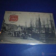 Postales: ANTIGUA POSTAL- BARCOS , MARSEILLE - LE QUAI DU PORT CIRCULADA 1905 - 14X9 CM. . Lote 46034693