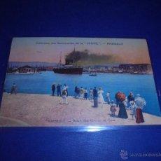 Postales: ANTIGUA POSTAL CIRCULADA 1912 BARCOS MARSEILLE - DÉPART D'UN COURRIER DE CHINE. COLLECTION DES SAVON. Lote 46053419