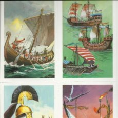 Postales: BONITA COLECCION COMPLETA DE 24 POSTALES DE GRANDES VELEROS VER FOTOS. Lote 46194451