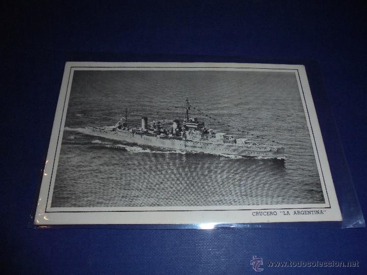 ANTIGUA POSTAL BARCOS - CRUCERO - LA ARGENTINA - 14X9 CM. (Postales - Postales Temáticas - Barcos)