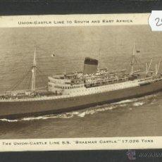 Postales: THE UNION CASTLE LINE SS - POSTAL DE BARCO - (24708). Lote 46667070