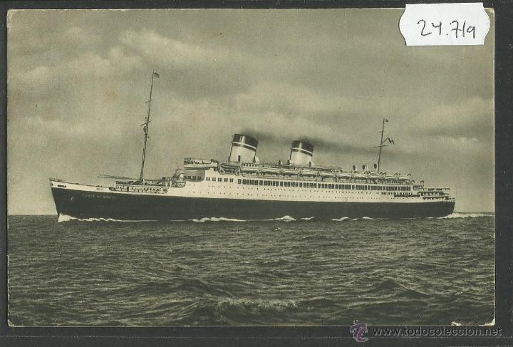 CONTE DI SAVOIA - POSTAL DE BARCO - (24719) (Postales - Postales Temáticas - Barcos)