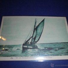 Postales: BARCOS - 180 LE TOUQUET - PARIS -PLAGE - BARQUES DE PECHE - 14X9 CM. . Lote 46787601