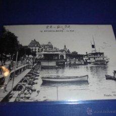 Postales: BARCOS - 14 - EVIAN - LES BAINES - LE PORT , CIRCULADA 1930 . - 14X9 CM. . Lote 46886760