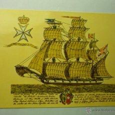 Postales: POSTAL BARCO MALLORCA A SUS HIJOS SOBERANOS DE LA ORDEN DE MALTA. Lote 46926432