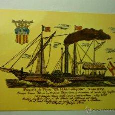 Postales: POSTAL BARCO EL MALLORQUIN . Lote 46926451