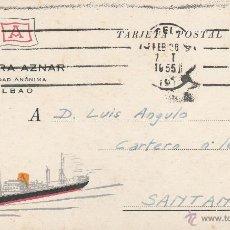 Postales: Nº 21052 POSTAL NAVIERA AZNAR SIEDAD ANONIMA BILBAO . Lote 47072666