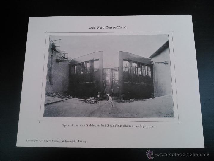Postales: DER NORD-OSTSEE-KANAL, CUADERNO CON 16 VISTAS DE LA VIA MARITIMA ARTIFICIAL MAS UTILIZADA DEL MUNDO, - Foto 6 - 47307212