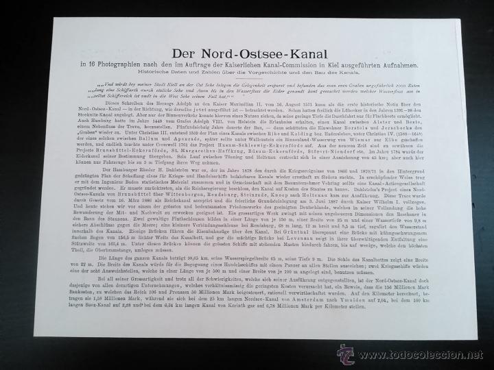 Postales: DER NORD-OSTSEE-KANAL, CUADERNO CON 16 VISTAS DE LA VIA MARITIMA ARTIFICIAL MAS UTILIZADA DEL MUNDO, - Foto 7 - 47307212