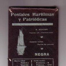 Postales: POSTALES MARÍTIMAS Y PATRIÓTICAS.SERIE NEGRA.ED.E.AGACINO.BARCELONA.AÑO 1912-1914. Lote 47357436