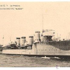Postales: BUSCADA POSTAL S.E. DE C. N CARTAGENA. DESTROYERS TIPO ALSEDO. S/C. Lote 47381620