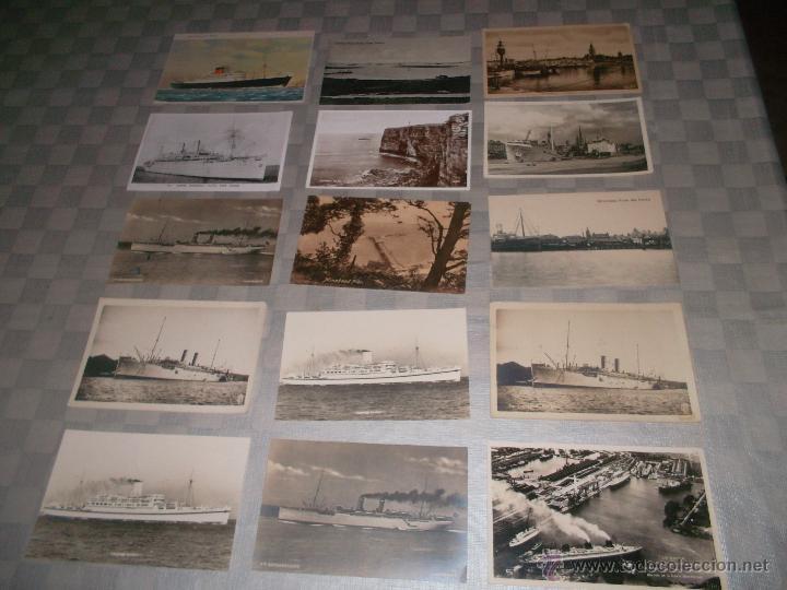 GRAN LOTE DE 15 POSTALES DE BARCOS ANTIGUOS (Postales - Postales Temáticas - Barcos)