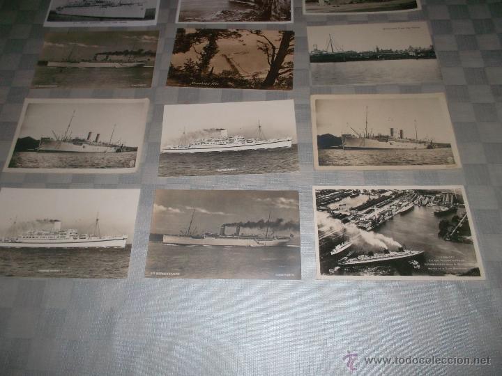 Postales: gran lote de 15 postales de barcos antiguos - Foto 2 - 47653945