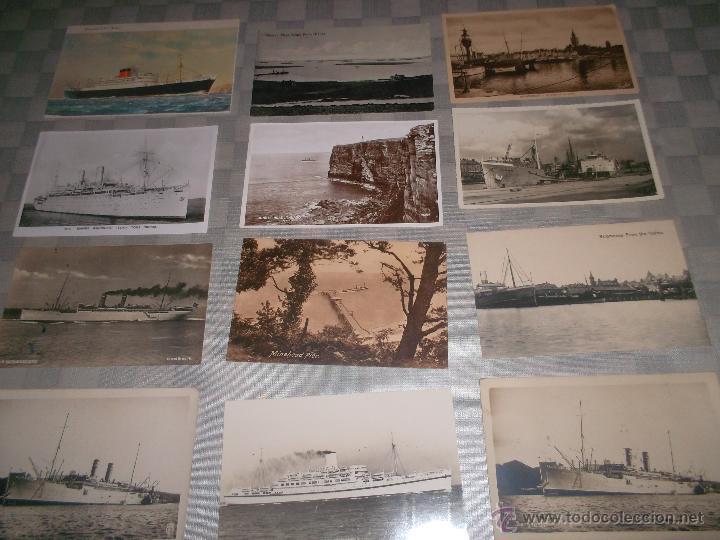 Postales: gran lote de 15 postales de barcos antiguos - Foto 3 - 47653945