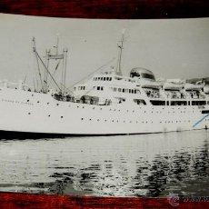 Postales: FOTO POSTAL DE BUQUE CIUDAD DE BURGOS, COLECCION MARTORELL, N. 196, CIRCULADA.. Lote 47711254