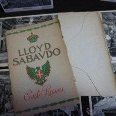 Postales: LLOYD SABAUDO, CONTE ROSSO, CARPETILLA CON 6 POSTALES DE DEPENDENCIAS DEL BARCO. Lote 47879445