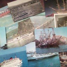 Postales: LOTE DE 13 POSTALES DE BARCOS.. Lote 48289342