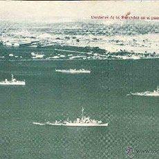 Postales: UNIDADES DE LA ESCUADRA EN EL PUERTO DEL CALLAO. PERÚ. SIN CIRCULAR. FERIA DE OCTUBRE LIMA 1949.. Lote 48648483
