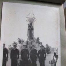Postales: FOTOGRAFIA MARITIMA VIRGEN DEL CARMEN, MARINERIA EN FORMACION - APROX 1945/50 FERROL + INFO. Lote 48935467