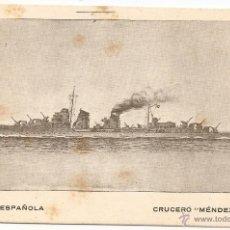 Postales: CRUCERO MÉNDEZ NÚÑEZ (ARMADA ESPAÑOLA). Lote 49265789