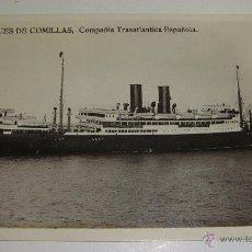 Postales: ANTIGUA FOTO POSTAL. COMPAÑÍA TRASTLANTICA ESPAÑOLA. MARQUES DE COMILLAS.. Lote 49336089