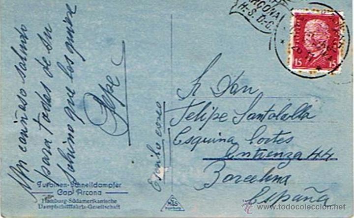 Postales: ANTIGUA TARJETA POSTAL DE BARCO CAP ARCONA - Foto 2 - 49545675