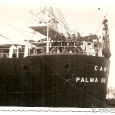 Postales: BUQUE DE PALMA DE MALLORCA. POSTAL FOTOGRÁFICA. FOTÓGRAFO GRAO DE VALENCIA. Lote 49760028
