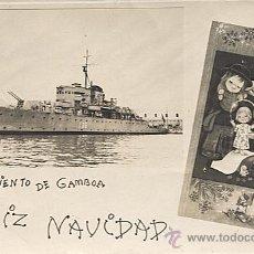 Postales: X113501 FELIZ NAVIDAD DESDE EL BARCO DE GUERRA SARMIENTO DE GAMBOA. Lote 49959353