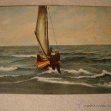 Postales: ANTIGUA TARJETA POSTAL ORIGINAL BARCO COLOREADA DE P.P.SXX CA.1915. Lote 49960456