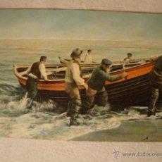 Postales: ANTIGUA TARJETA POSTAL ORIGINAL BARCO COLOREADA DE P.P.SXX CA.1915. Lote 49960508